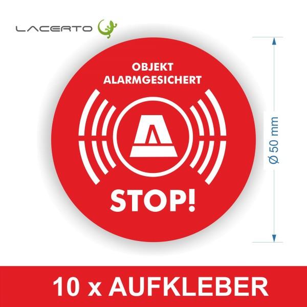 "Warnaufkleber ""Stop! Objekt Alarmgesichert"""