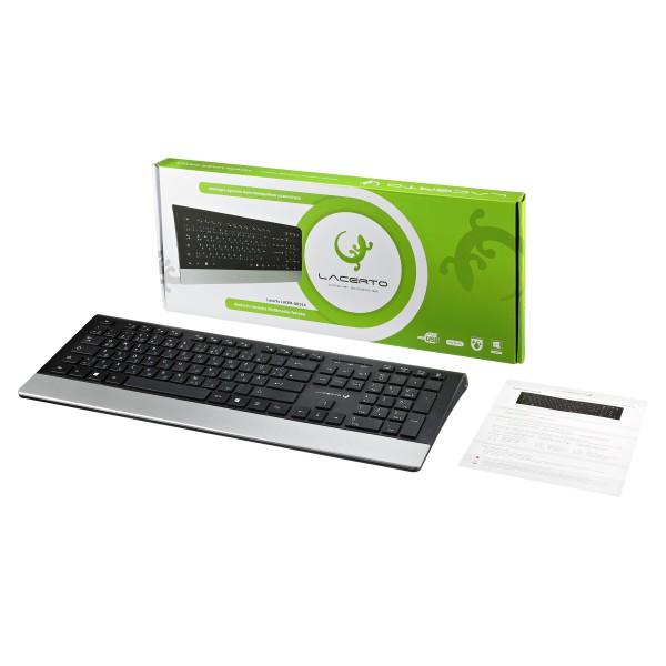 Russisch-Deutsche Multimedia-Tastatur Lacerto LUCER-DR514